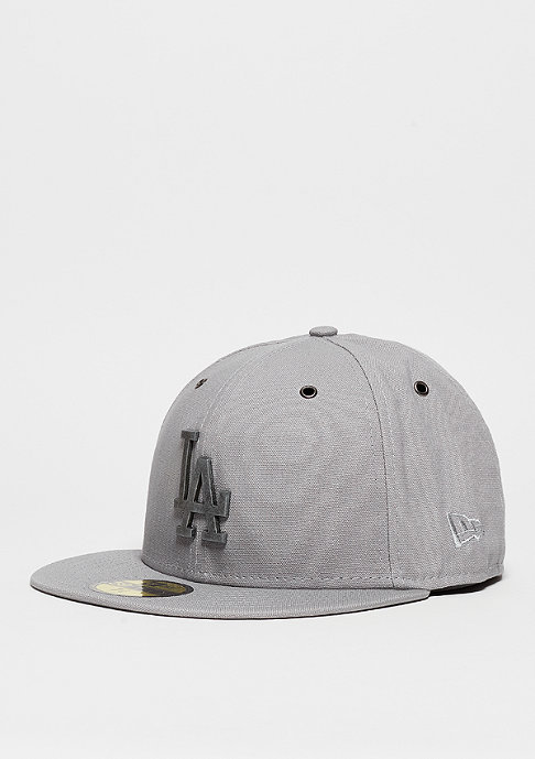 New Era Fitted-Cap Crafted MLB Metal Los Angeles Dodgers grey/dark purple