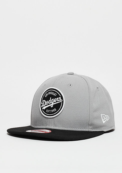 New Era Emblem Patch MLB Los Angeles Dodgers grey/black