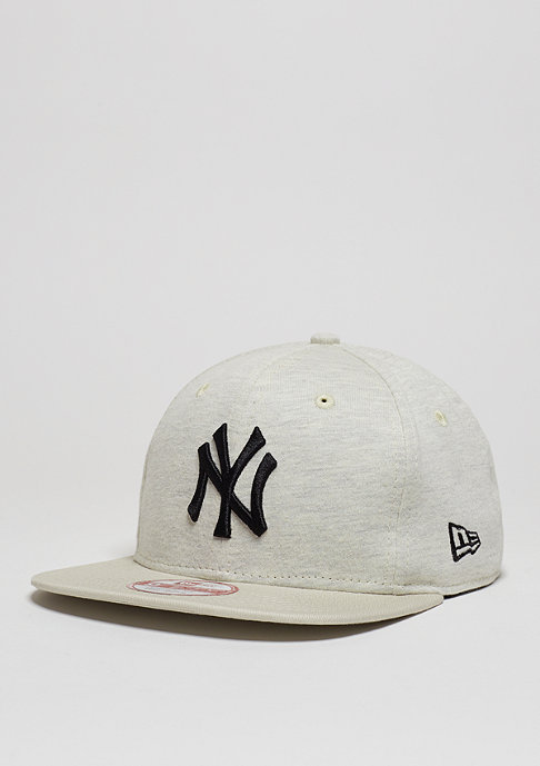 New Era Snapback-Cap Jersey Heather MLB New York Yankees stone