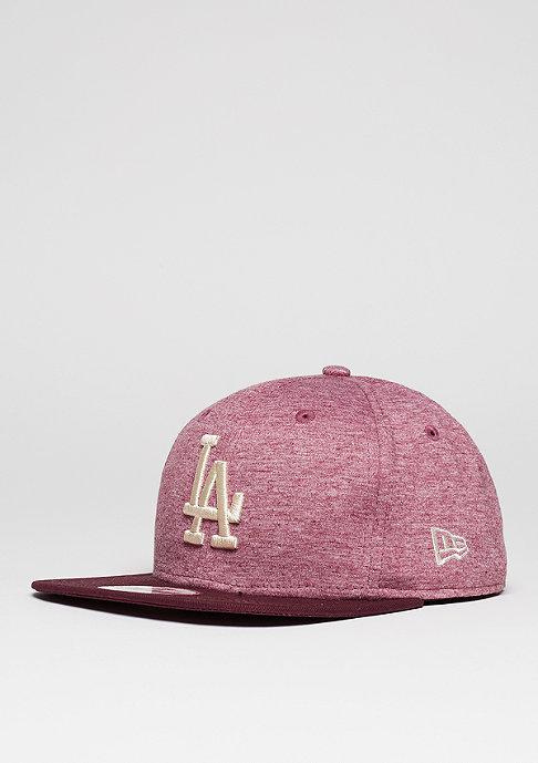 New Era Jersey Heather MLB Los Angeles Dodgers maroon