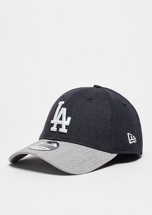 New Era Baseball-Cap Heather Visor 39Thirty MLB Los Angeles Dodgers navy/grey