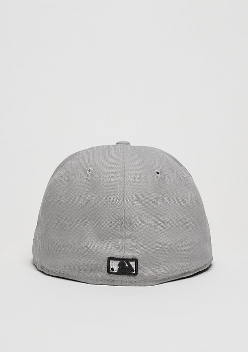 New Era Fitted-Cap Team Duck Canvas 59Fifty MLB Los Angeles Dodgers grey/black