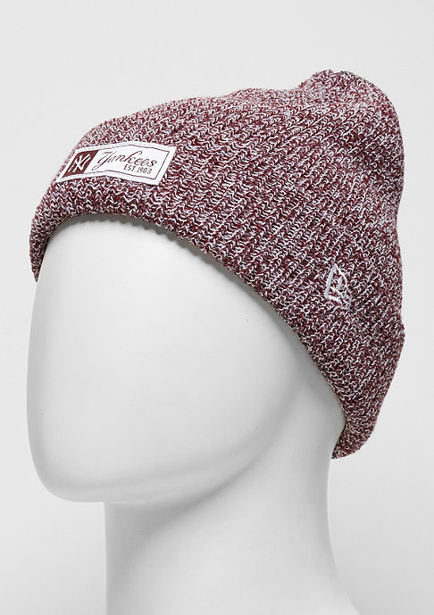 New Era Twist Yarn Cuff MLB New York Yankees maroon/optic white
