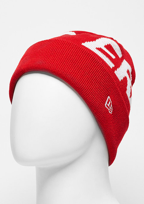 New Era Beanie Word Cuff scarlet
