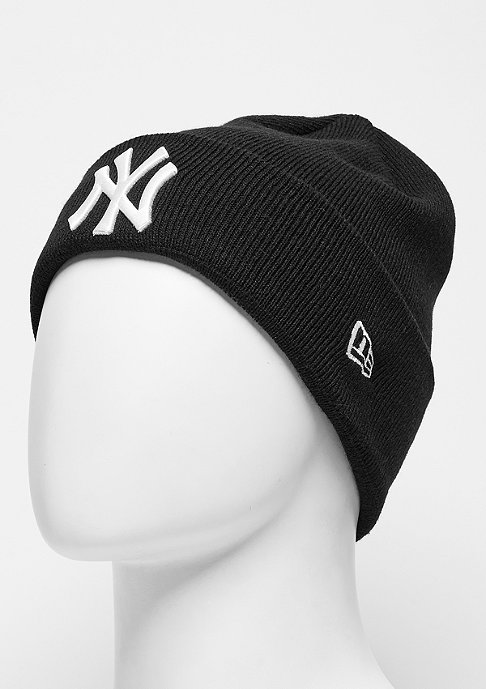 New Era Beanie Essential Cuff MLB New York Yankees black