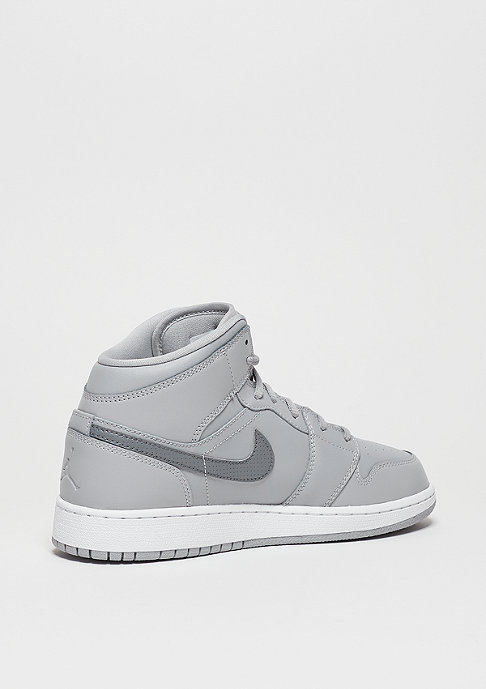 JORDAN Air Jordan 1 Mid (GS) wolf grey/cool grey/white