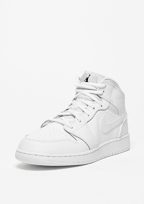 JORDAN Air Jordan 1 Mid (GS) white/black/white