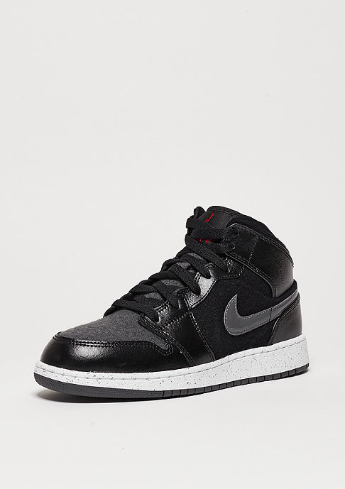 JORDAN Air Jordan 1 Mid Winterized BG black/gym red/dk grey/white