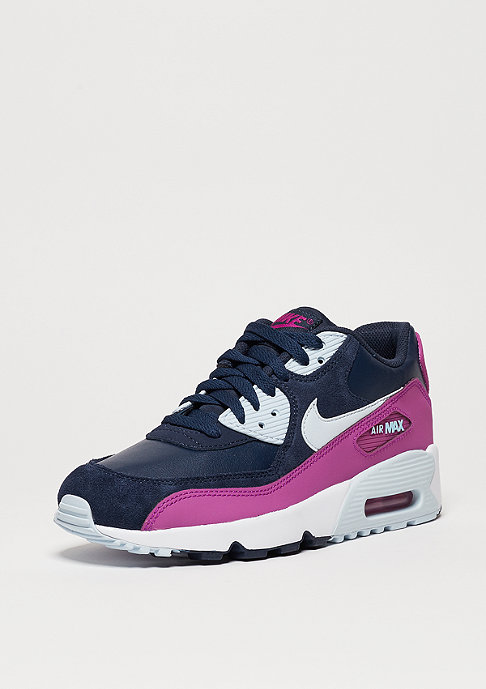 NIKE Schuh Air Max 90 Leather (GS) mid navy/blue tint