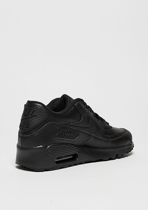 NIKE Schuh Air Max 90 Leather (GS) black/black