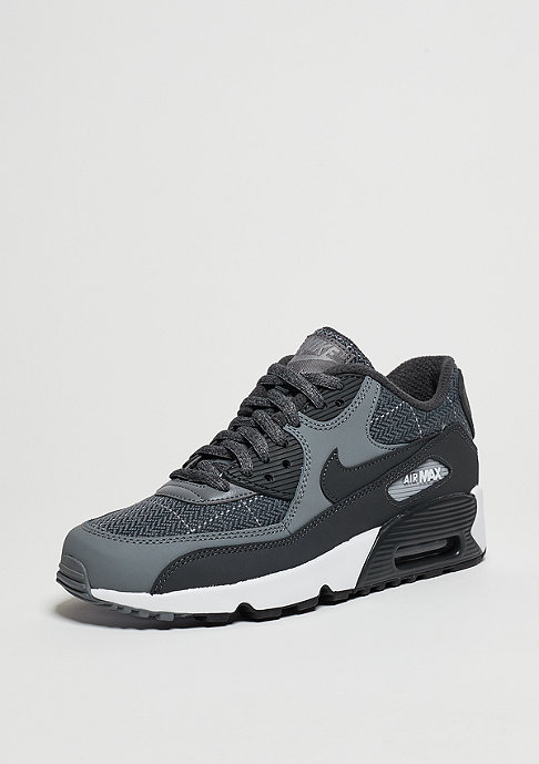 NIKE Schuh Air Max 90 SE Leather GS cool grey/anthracite/wolf grey