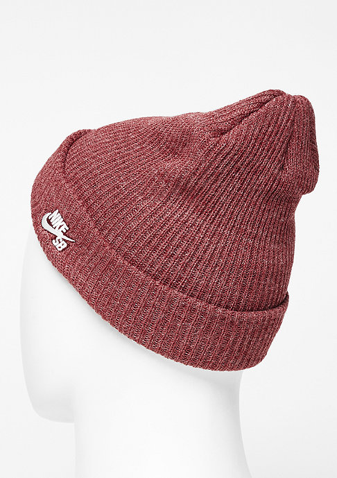NIKE SB Beanie Fisherman med team red/white