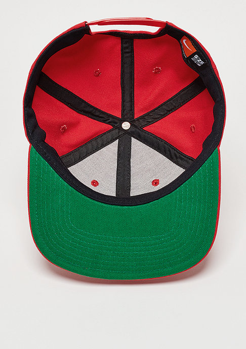 NIKE Snapback-Cap Swoosh Pro university red/pine green/black/white