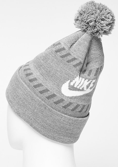 NIKE Beanie Futura Pom carbon heather/white/dark grey