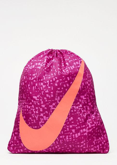 NIKE Graphic Gym Sack dynamic berry/ember glow/ember glow