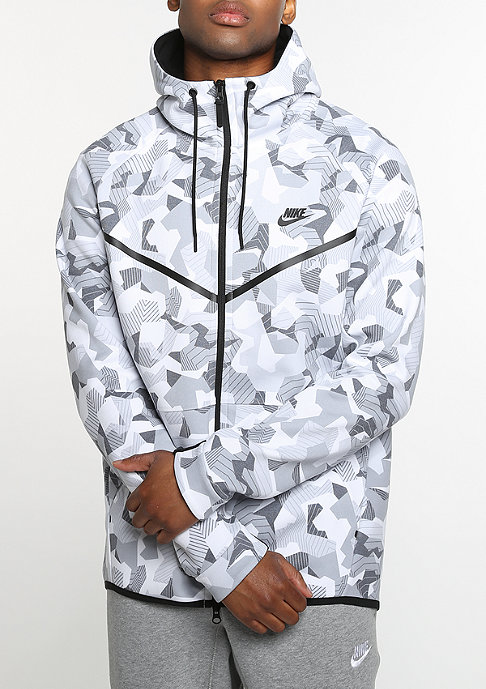 NIKE Tech Fleece Windrunner Hoodie white/black/black