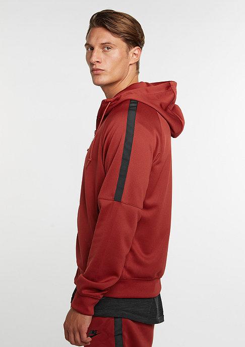 NIKE Hooded-Sweatshirt Tribute dark cayenne/black