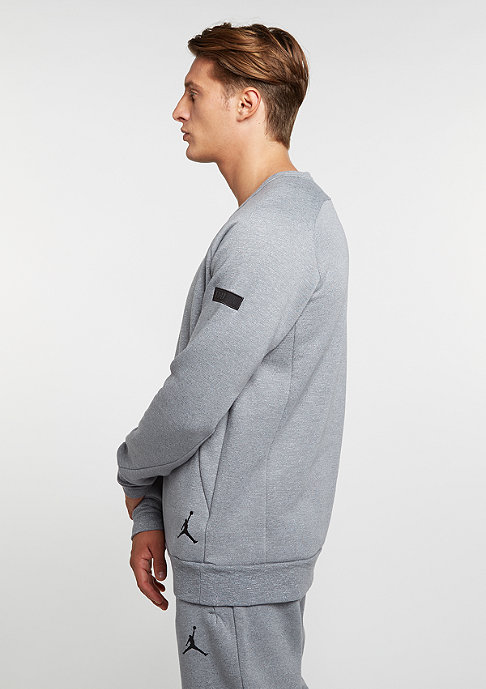 NIKE Sweatshirt Icon Fleece Crew cool grey/black