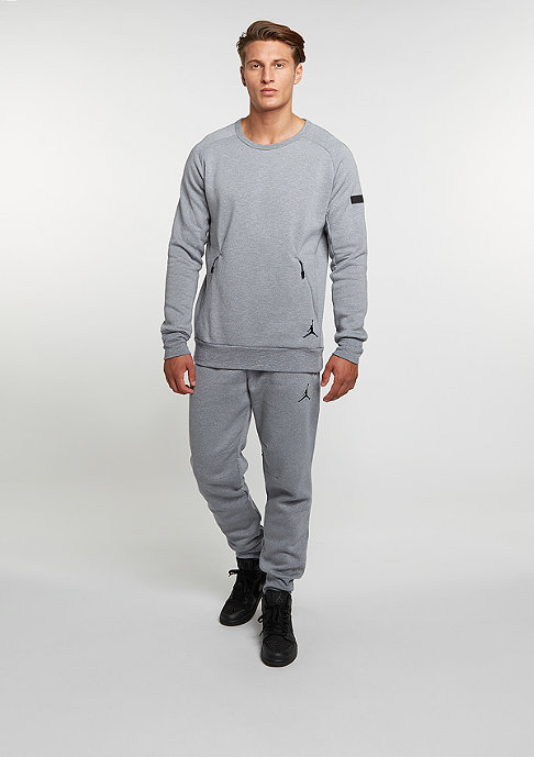 JORDAN Sweatshirt Icon Fleece Crew cool grey/black