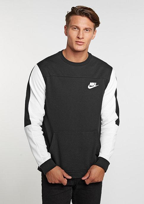 NIKE Sweatshirt Advance 15 black/white/black