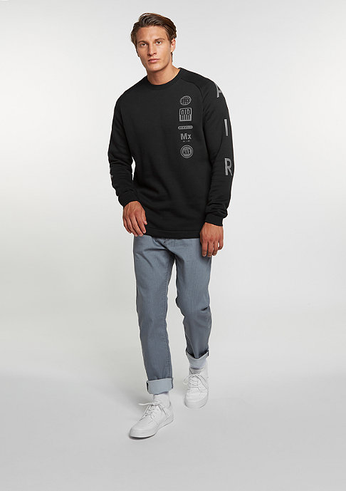 NIKE Sweatshirt Fleece Air Totem black/dark grey