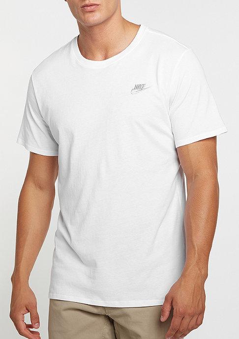 NIKE T-Shirt Club Embrd FTRA white/white