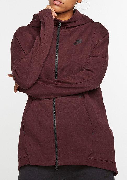 NIKE Tech Fleece Cape night maroon/heather/night maroon