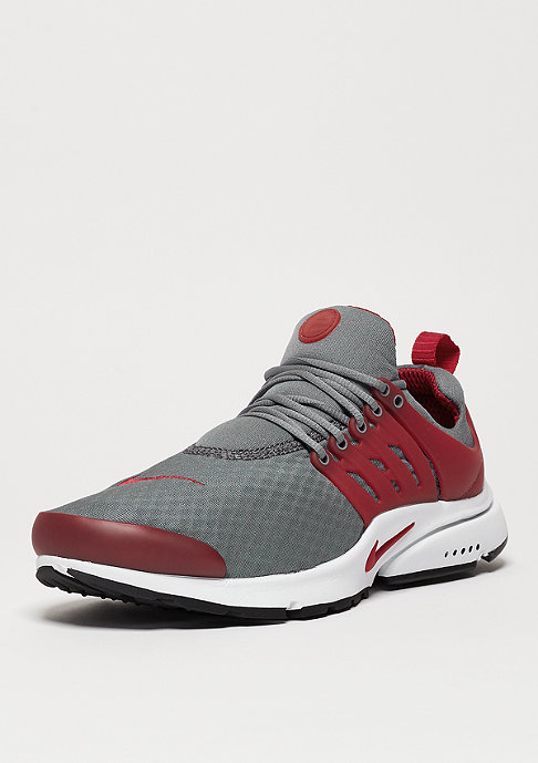 NIKE Air Presto Essential cool grey/gym red/white