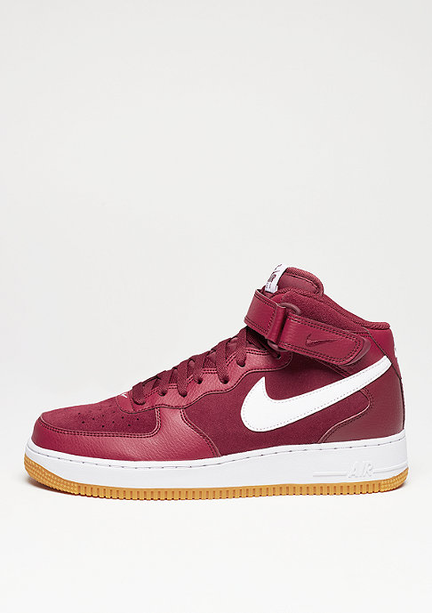 NIKE Air Force 1 Mid 07 team red/white/gum light brown