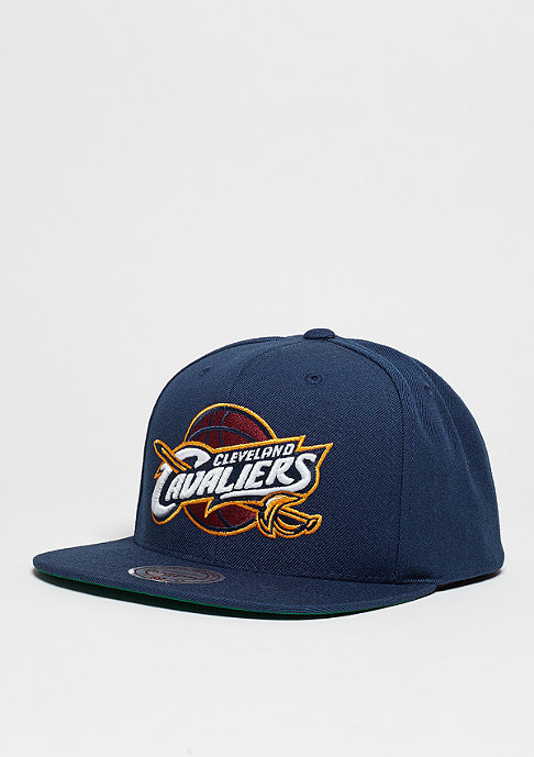 Mitchell & Ness Snapback-Cap Wool Solid NBA Cleveland Cavaliers navy