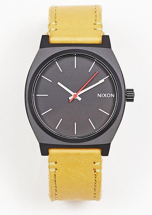 Nixon Time Teller all black/goldenrod