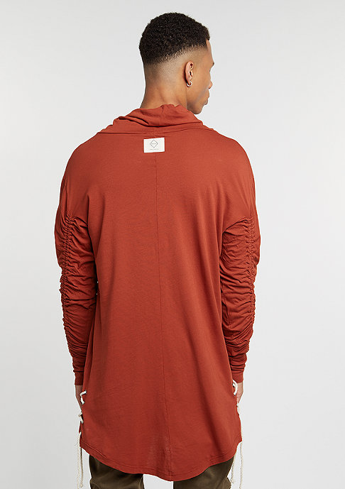 Granted Longsleeve Cowl Neck Laced Sides rust