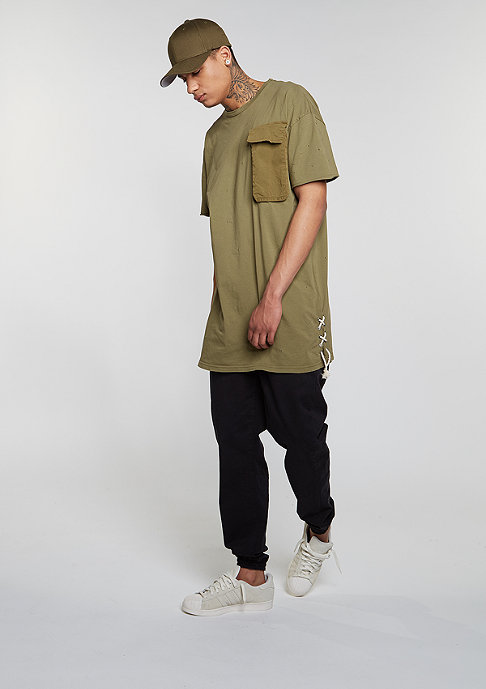 Granted T-Shirt Pocket Laced Sides khaki