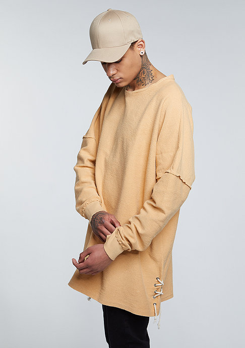Granted Sweatshirt Laced Sides tan