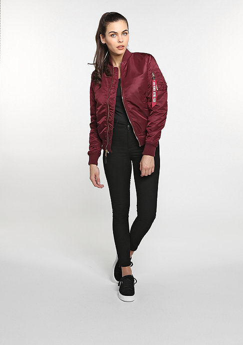 Alpha Industries Winterjacke MA-1 VF PM WMN burgundy