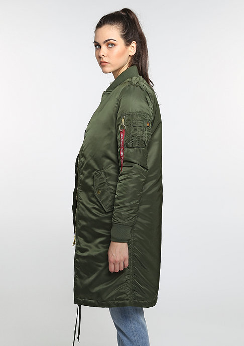 Alpha Industries MA-1 COAT PM WMN d. green