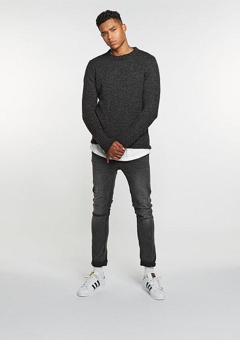 Cheap Monday Sweatshirt Caught Knit charcoal melange