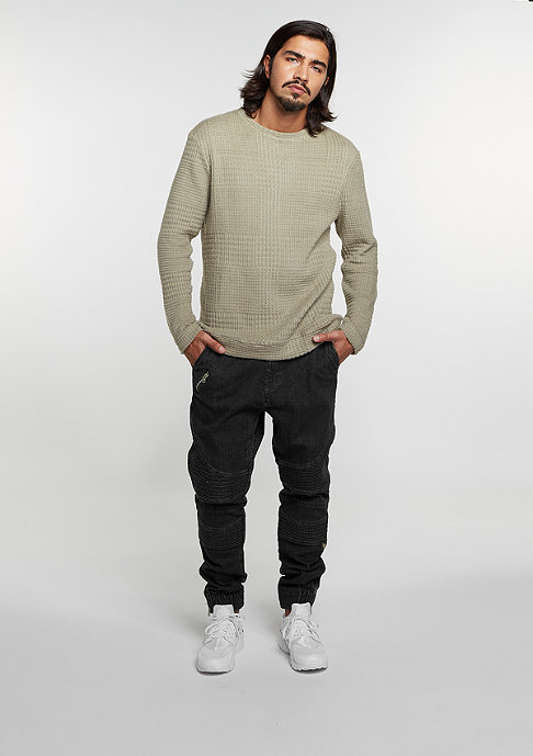 Flatbush Sweatshirt Knitcrew Checked silver savage