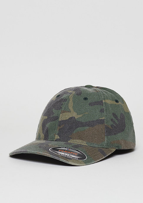 Flexfit Garment Washed green camo