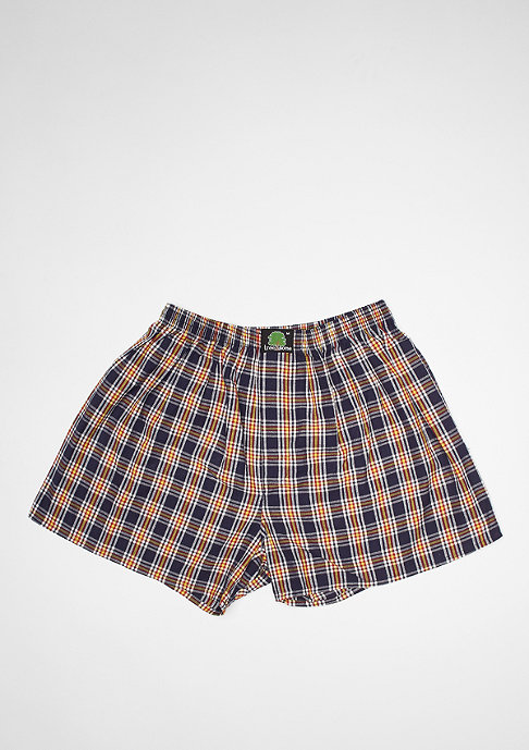 Treesome Boxershort Plaid dark blue/yellow/white