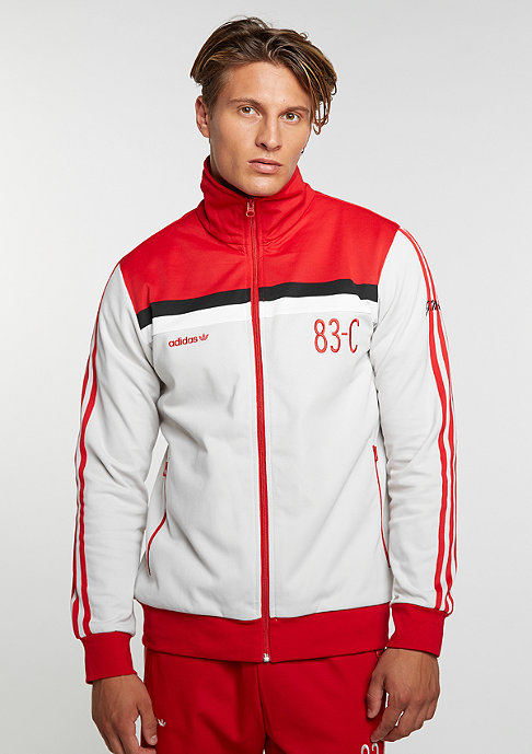 adidas Track Top talc/scarlet