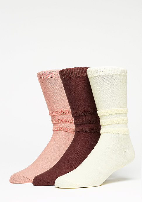 adidas Socks easy yellow/mystery brown/raw pink