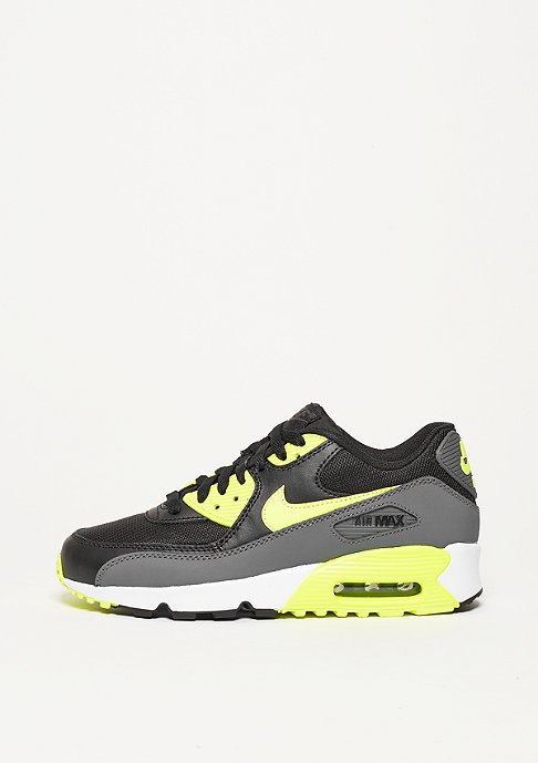 NIKE Schuh Air Max 90 Mesh (GS) black/volt/dark grey