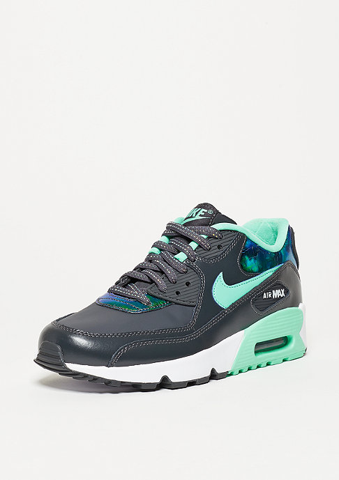 NIKE Schuh Air Max 90 SE Leather anthracite/green glow/pure platinum