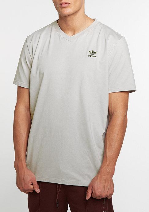 adidas T-shirt Boxy V clear granite