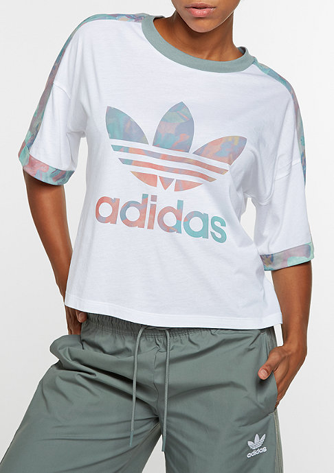 adidas Training Cuffed Floral white