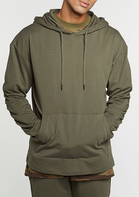 Future Past Hooded-Sweatshirt Light Hoody olive