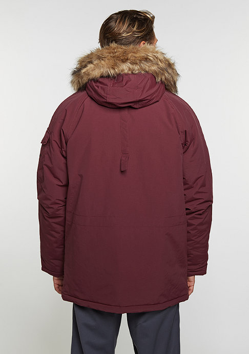 Carhartt WIP Winterjacke Anchorage Parka chianti/black