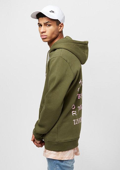 Mister Tee Hooded-Sweatshirt LA olive