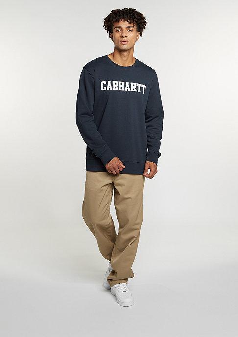 Carhartt WIP Sweatshirt College navy/white
